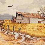 Farm Background Cross Stitch