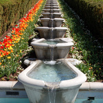 Symetrical Garden Fountain