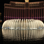 Bellagio water show at night