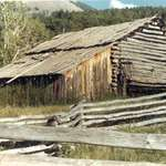 Old barn in Colorado Rockies