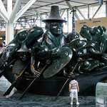 Bronze Sculpture &quot;Spirit of Haida Gwaii&quot; /Jade Canoe by Bill Reid