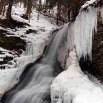Bucktail falls winter