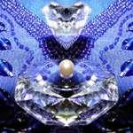 Crystal on Blue