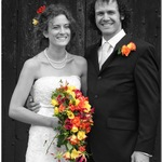 Happy Couple -  Black And White With Colour