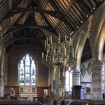 Inside Chiddingstone church