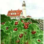 Lighthouse Cape Elizabeth  Main
