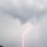 Lightning in daylight