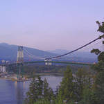 Lions Gate Bridge-dusk- from Prospect Point
