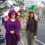 My sisters and me at Mardi Gras