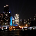 New York City Skyline At Night Sept 11