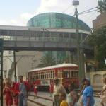 Streetcar and Aquarium of Americas