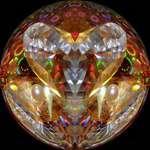 Reflective Heart & Cushion abstract