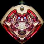 Ruby tubes/ abstract - Jewelled Crab