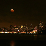 Red Moon over San Francisco