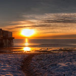 Sunrise at Old Orchard Beach