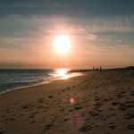Sunset beachscape