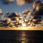 Sunset in the Bay of Biscay