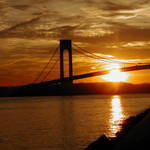 Verrazano Bridge, Brooklyn , sunset 2