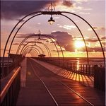 Sunset over Southport Pier