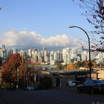 Vancouver street in the Fall